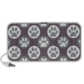Colorful Paw Print and Polka Dot Pattern Portable Speaker