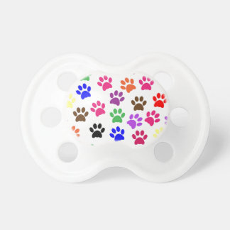 Colorful Paw Print Baby Pacifier