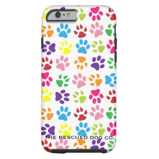 Colorful Paw Print iPhone 6 Tough Cell Phone Case