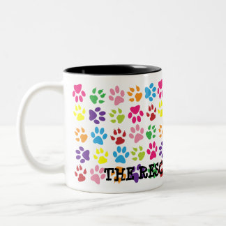 Colorful Paw Print Mug