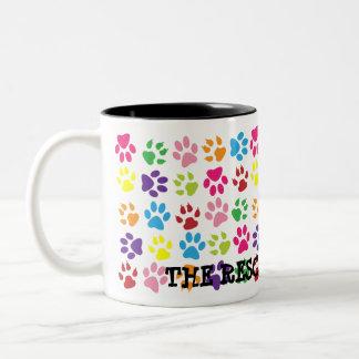 Colorful Paw Print Mug