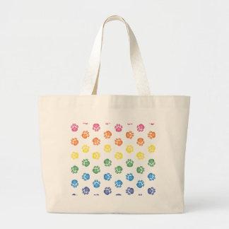 Colorful Paw prints Bag