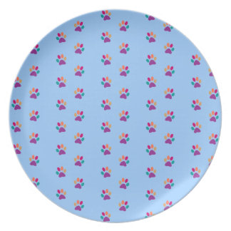Colorful Paw Prints Party Plates