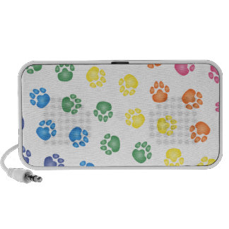 Colorful Paw prints PC Speakers