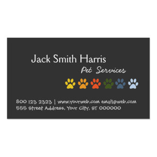 Colorful Paws Dog Pet Veterinarian Pack Of Standard Business Cards