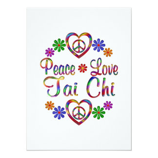 Colorful Peace Love Tai Chi Card