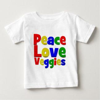 Colorful Peace Love Veggies Shirts