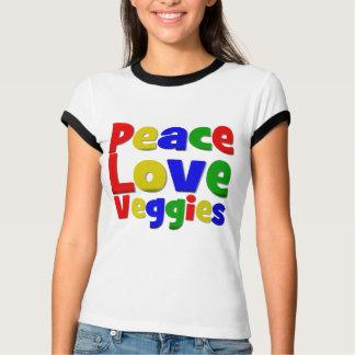 Colorful Peace Love Veggies Tshirt