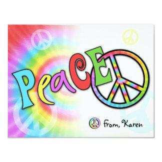 "Colorful PEACE Note Card 4.25"" X 5.5"" Invitation Card"