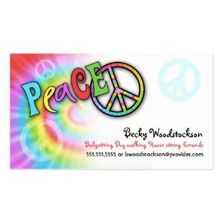 Colorful PEACE Profile Card Business Cards
