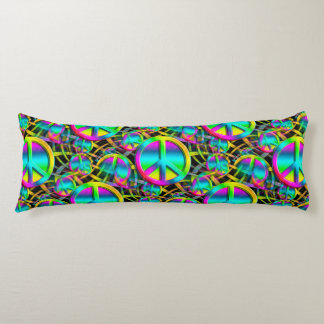 Colorful PEACE seamless pattern + your ideas Body Cushion