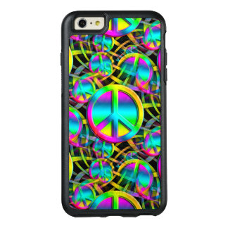 Colorful PEACE seamless pattern + your ideas OtterBox iPhone 6/6s Plus Case