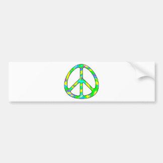 colorful peace sign bumper sticker