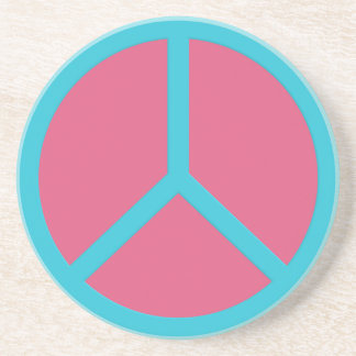 Colorful Peace Sign coaster