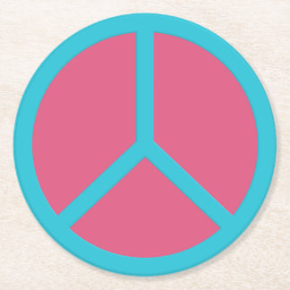 Colorful Peace Sign coasters