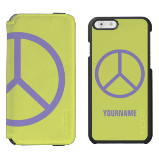 Colorful Peace Sign custom case wallets Incipio Watson™ iPhone 6 Wallet Case