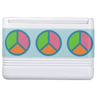 Colorful Peace Sign custom cooler Igloo Cooler