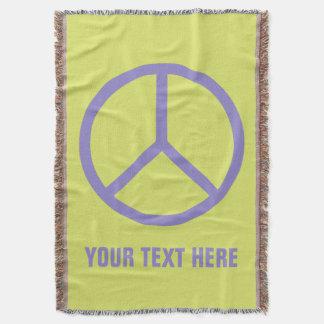 Colorful Peace Sign custom throw blanket