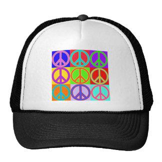 Colorful Peace Sign Design Cap