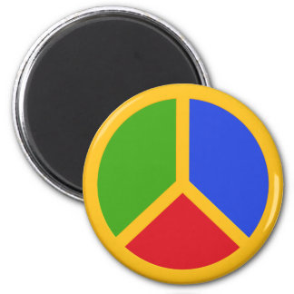 Colorful Peace Sign magnet