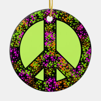 Colorful Peace Sign Ornament