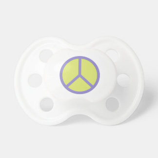 Colorful Peace Sign pacifier