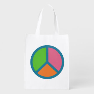 Colorful Peace Sign reusable bag