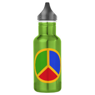 Colorful Peace Sign water bottles 532 Ml Water Bottle