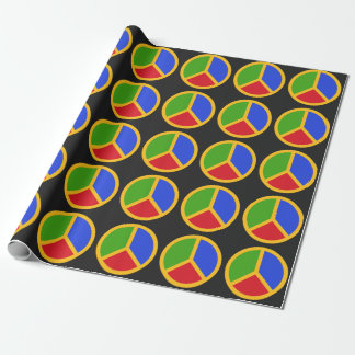 Colorful Peace Sign wrapping paper