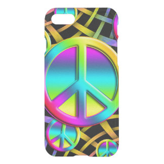 Colorful PEACE signs - make love not war iPhone 7 Case