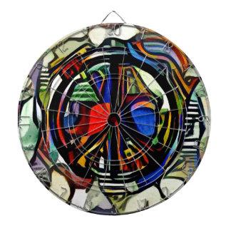 Colorful peace symbol dartboard