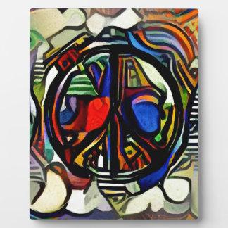 Colorful peace symbol plaque