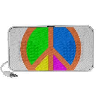 Colorful Peace Symbol Speaker