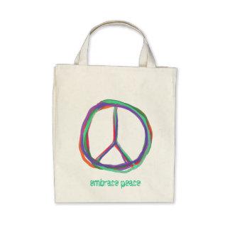 Colorful Peace Symbol Tote Bag
