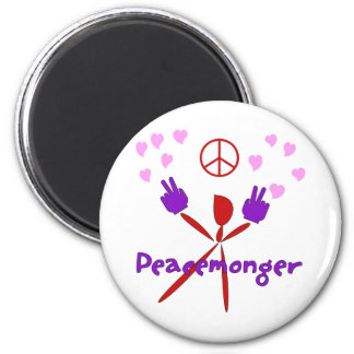 Colorful Peacemonger 6 Cm Round Magnet