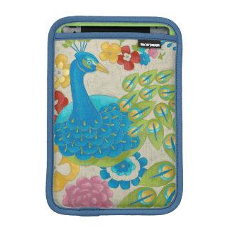 Colorful Peacock and Flowers iPad Mini Sleeve