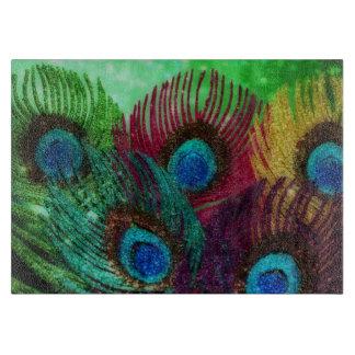 Colorful Peacock Cutting Board