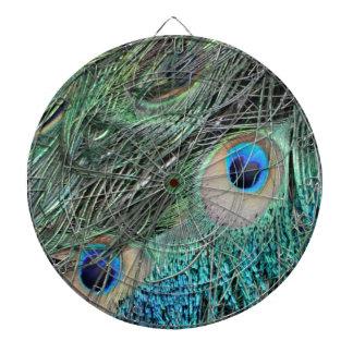 Colorful Peacock Eyes Dartboard