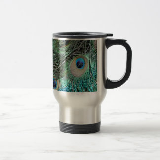 Colorful Peacock Eyes Travel Mug