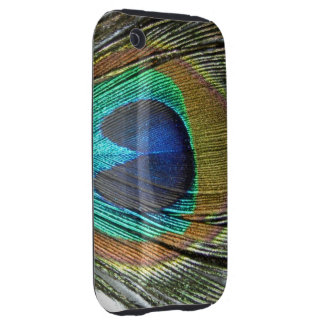 COLORFUL PEACOCK FEATHER iPhone 3 TOUGH CASES