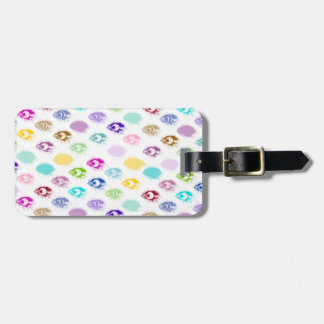 Colorful Peacock feather print Luggage Tag