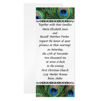 Colorful Peacock Feather Wedding Invitations