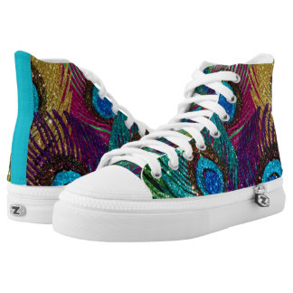 Colorful Peacock High Tops