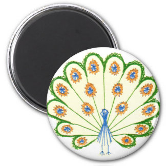 Colorful Peacock Magnet