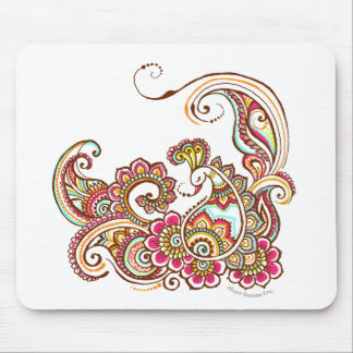colorful peacock mouse mat