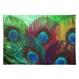Colorful Peacock Placemat