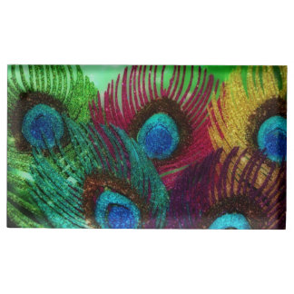 Colorful Peacock Table Card Holder