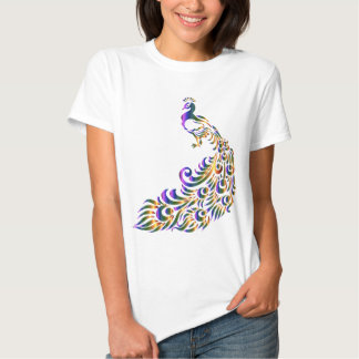 Colorful Peacock Tees