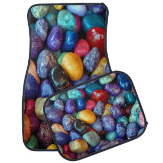 Colorful Pebbles and Stones Set of 4 Car Mats