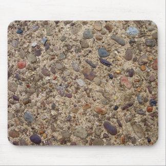 Colorful Pebbles In Concrete Mouse Pad